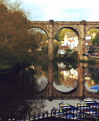 Knaresborough (micahmoreland) Tags: uk england water river boats town village little small viaduct british serene quaint northyorkshire riparian