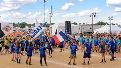 Lincoln High School 2016 State Fair Band Day (WayNet.org) Tags: bandday cambridgecity goldeneagles indiana indianastatefair indianapolis lhs lincoln statefair band colorguard grandstand marchingband track