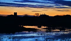 CHANGING LIGHT By Angela Wilson (angelawilson2222) Tags: light sunset nature night landscape island evening twilight scenery glow view wildlife holy northumberland national trust lindisfarne snook dwelling