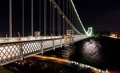 The Clifton suspension bridge (technodean2000) Tags: the clifton suspension bridge spanning picturesque avon gorge is symbol city bristol for almost 150 years this grade i listed structure has attracted visitors from all over world its story began 1754 with dream wine merchant who left legacy build england uk nikon d5200 lightroom night landscape architecture outdoor skyline building infrastructure water dusk serene d610 colour color blackandwhite monochrome black background