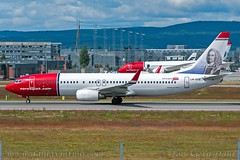"LN-DYE, Norwegian Air Shuttle, Boeing 737-8JP(WL) - cn 39003 ""Ludvig Holberg"" (dahlaviation.com) Tags: oslo norway airplane aircraft aviation airplanes spotting osl gardermoen aircrafts planespotting engm"