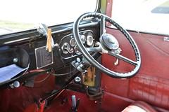 Austin 7 (Snapshooter46) Tags: austing7 salooncar old british vehicle steeringwheel dashboard jv1498