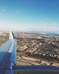 La la (' z i a d) Tags: wing takeoff green blue sky tree trees plane california cali lax la losangeles instagramapp square squareformat iphoneography