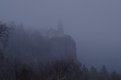 Misty Sentinel (FlappinMothra) Tags: split rock lighthouse lake superior north shore light state park storm mist fog misty squall wayside minnesota minn mn highway 61 us roadside scenic overlook martha decker pentax