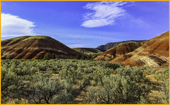 Painted Hills Vista #3 - John Day fossil Beds National Monument - Fossil, OR (wallawallaswede) Tags: paintedhills condon smithrock cascadelakes