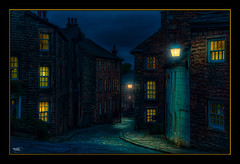 Recollection (Kevin From Manchester) Tags: street windows england sky architecture night lancashire lancaster lamps canon1855mm kevinwalker