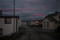 Little faith (the bbp) Tags: islanda iceland island holmavik notte night luce light dark darkness rosa pink citt town vuoto empty deserto desert nuvole clouds cielo sky thebbp