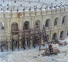 Model of the construction of the Roman amphitheater in Arles, France (mharrsch) Tags: amphitheater arena model construction roman ancient arles arelate exhibit musedelarlesantique france mharrsch