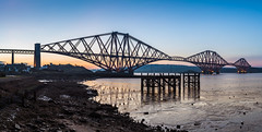 Sunrise (Bastian.K) Tags: edinburgh lap forth rail road bridge ausleger auslegerbrcke stahl brcke steel steelbridge great scotland scottisch engineering engineer schottland firth eisenbahn eisenbahnbrcke sony a7s panorama loxia3520 zeiss carl loxia 35mm 20 sunrise sunset dawn dusk sun see sea water reflection reflections harbour harbor hafen industrie industry industrial revolution 1893 queensferry north south crossing
