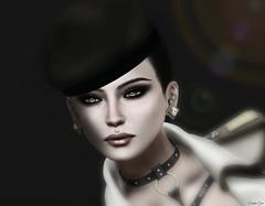 (Eurdice Qork) Tags: model woman fashion sexy shadows secondlife sl eyes beret