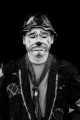 zantiny (timp37) Tags: black white illinois august 2016 showmens rest zantiny forest park woodlawn cemetary clown