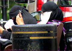 `1738 (roll the dice) Tags: london westminster maidavale nw8 littlevenice wet water scared creepy muslim islam veiled burka burqua niqab mad sad funny invisibleman glasses religion streetphotography uk art classic black dark saudi kuwait oil people wisdom natural flickr camera seat rubbish bin londonist pretty face sexy girls urban unaware unknown strangers candid portrait canon tourism man selfie weird surreal banned bench hot sunny weather magic ears