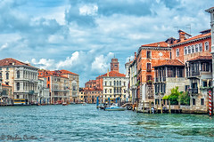 Quiet Grand Canal (stephencurtin) Tags: grand canal venice italy water buildings boats quiet