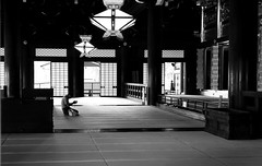 In front of the altar (pascalcolin1) Tags: japan japon kyoto temple autel altar prire prayer photoderue streetview urbanarte noiretblanc blackandwhite photopascalcolin