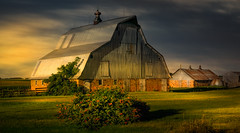 Joined Together (henryhintermeister) Tags: barns minnesota oldbarns clouds farming countryliving country sunsets storms sunrises pastures nostalgia skies outdoors seasons mankato