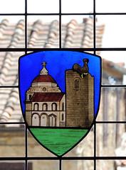 Castellina in Chianti - vetrata all' interno della Rocca (anto_gal) Tags: toscana siena chianti castellina 2015 torre rocca vetrata finestra