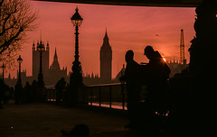 Westminster Sunset Silhouette (Princessa Pea (more off than on for a while)) Tags: 2008 l7215 westminster silhouette sunset film analog pentaxmz5n fujisuperiareala