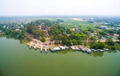 A Bird's Eye View of Thien Mu Pagoda (La Residence Hue Hotel & Spa - MGallery by Sofitel) Tags: thienmupagoda linhmupagoda huecity drone birdseyeview vietnam perfumeriver snghng