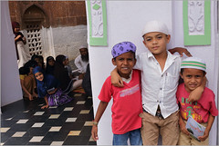 boys, badami (nevil zaveri (thank you for 10 million+ views :)) Tags: zaveri india badami mosque school happy gesture emotions karnataka photography photographer images photos blog stockimages photograph photographs nevil nevilzaveri stock photo people veil child children kid kids islam islamic muslim hijab girl girls boys smile portrait cap interior madresa