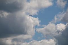 Pre-game Flyover over Saline, Michigan (Michigan-Hawai'i Football - September 3, 2016) (cseeman) Tags: at38 f16 militaryaircraft aircraft saline michigan football michiganfootball universityofmichigan precision usaf umfootball09032016 goblue 435thfightertrainingsquadron flyover michiganflyover michiganstadiumflyover michstadfly fightertrainingsquadron southcarolinaairnationalguard