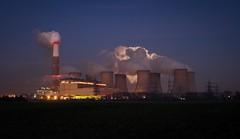 Cottam power station (deltic17) Tags: moon night smoke steam pylon fullmoon electricity lunar powerstation cottam