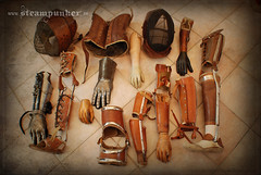steampunk prostetic (www.Steampunker.de) Tags: art design outfit artwork cosplay kunst convention larp helm uhr steampunk roleplay masken polio kafo mechanisch prothese orthese steampunker alexanderschlesier