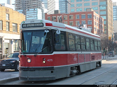 Toronto Transit Commission #4075 (vb5215's Transportation Gallery) Tags: toronto canada ttc transit streetcar 1980 commission hawker l2 utdc siddeley clrv