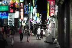 2211/1955 (june1777) Tags: street light night digital zeiss bokeh f14 n 85mm snap contax 200 carl seoul nd kyocera planar myeongdong ndigital nplanar