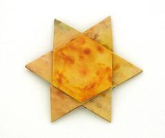 Fujimoto hexagone Rosette  10 front (Pliages et vagabondages) Tags: origami rosette déco fujimoto hexagone