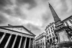 Pantheon square, Rome, Italy