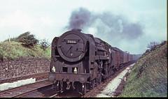 70016 at HEST BANK. September 3rd. 1966 (Brit 70013 fan) Tags: ariel pacific bank steam lancashire lancaster standard steamengine hest britannia carnforth hestbank britishrailways 70016
