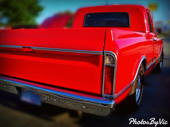 Red Chevy (Photos By Vic) Tags: old red classic chevrolet truck vintage antique pickup chevy chrome vehicle carshow