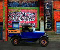 1 COCA COLA CAFE PAN 1_TRUCK (Gerry Slabaugh) Tags: americana cocacola emmettidaho cafe fordtruck ford truck gerryslabaugh rx100 ii rx100ii sony country pickup americaamerica onlygoodphotograhs sonycameraclub 1927fordmodelatruck modela model a 1927 emmett idaho classic restored mint carshow