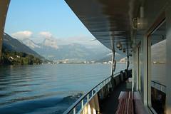 Lake Luzern, DS Gallia, Gersau 6 September 2007 (BaggieWeave) Tags: lake switzerland ship swiss luzern lucerne steamer lakeluzern lakelucerne paddlesteamer vierwaldstattersee swisslake lakeuri swisslakes