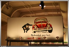 Also German Guys are not always perfect... (uslovig) Tags: old usa man ford museum vw mi volkswagen poster licht is perfect flat alt michigan detroit beetle tire nobody advertisement henry lamps werbung plakat kfer export dearborn lampen the nobodys