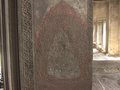 Carved Pillar at Angkor Wat