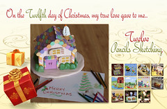 12 Days of Re-Ment Christmas (Renatta_R) Tags: christmas house pencils sketch cookie drawing secret gingerbread days 12 countdown