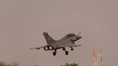 Armee de l'Air Dassault Rafale B (104-1C)  from 3/30 Lorraine escadron, SPA38 escadrille,  Al Dhafra AB, UAE (faram.k) Tags: india fighter aircraft military jet 328 combat karnataka dassault afterburner bengaluru 1041c rafaleb spa38 330lorraine aeroindia2015