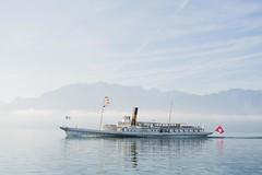 Leman Lake, Switzerland (Matutino.) Tags: blue lake alps water lago switzerland boat nikon barco ship suisse suiza leman vevey d600