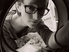 005.365 - 05.01.15 (oana-emilia) Tags: life portrait people bw woman selfportrait monochrome glasses blackwhite january human laundry middle washingmachine day5 selfie inthemiddle odc weeklytheme 365project shuttersisters day5365 womenwhophotography doingthelaundry shuttersister week1theme ourdailychallenge shuttersister365 365the2015edition 3652015 documentinthehumanlife 5jan15