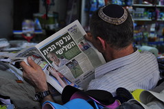 The News (Marc Röhlig) Tags: reading israel newspaper tel aviv hebrew