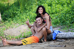 Beautiful costa rican young couple -           Happy Valentines day (SergeK ) Tags: life love beach beautiful happy bay costarica couple day young valentine lovely drake relaxed puntarenas costarican sergek
