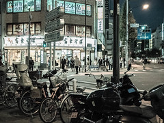 Night time in Shinjuku (Polar Bear 1) Tags: city people urban japan tokyo shinjuku asia citylife olympus nightlife grainy