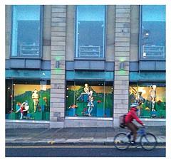Green light (rjevans6) Tags: cycling edinburgh harveynichols shopwindowdisplay blipfoto