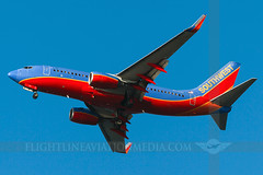 Southwest Airlines Boeing 737-7H4 N770SA (Flightline Aviation Media) Tags: sanfrancisco southwest airplane airport sfo aircraft aviation jet boeing coyotepoint airlines 737 stockphoto ksfo 737700 7377h4 canon50d n770sa bruceleibowitz 7942949