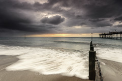 Menacing Sky (RTA Photography) Tags: sea clouds sunrise dark pier devon rush groyne teignmouth sigma1020mm456exdchsm nikond7000 rtaphotography