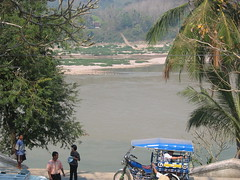 The Mekong River in Luang Prabang