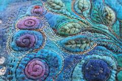Blue piece (Jackie Cardy (dogdaisy92)) Tags: handmade embroidery felt textiles textileart pedi handstitching textilehandmade