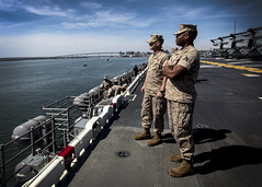 15th MEU Marines embark Essex ARG for COMPTUEX (15th Marine Expeditionary Unit) Tags: bridge usmc skyline america training buildings landscape marine ship cityscape exercise military navy scenic sailors simulation marines sailor pao float 31 usnavy marinecorps atsea osprey deployment ce ussessex unitedstatesmarinecorps camppendleton sandiegoskyline 2015 limaco publicaffairs comcam lhd2 lcu workup marineexpeditionaryunit landingcraftunit uspacom magtf 15thmarineexpeditionaryunit marineairgroundtaskforce 31blt commandelement headquartersco navyandmarines 15thmeurelated15thmeu elizemckelvey battallionlandingteam