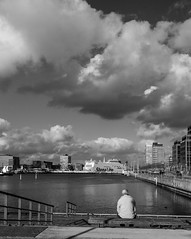 No matter if you stay or leave, you will always be yourself (mona_dee) Tags: street people bw ferry clouds germany harbour kiel stenaline germaniahafen